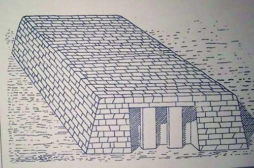 شکل عمومی مصطبه در مصر باستان