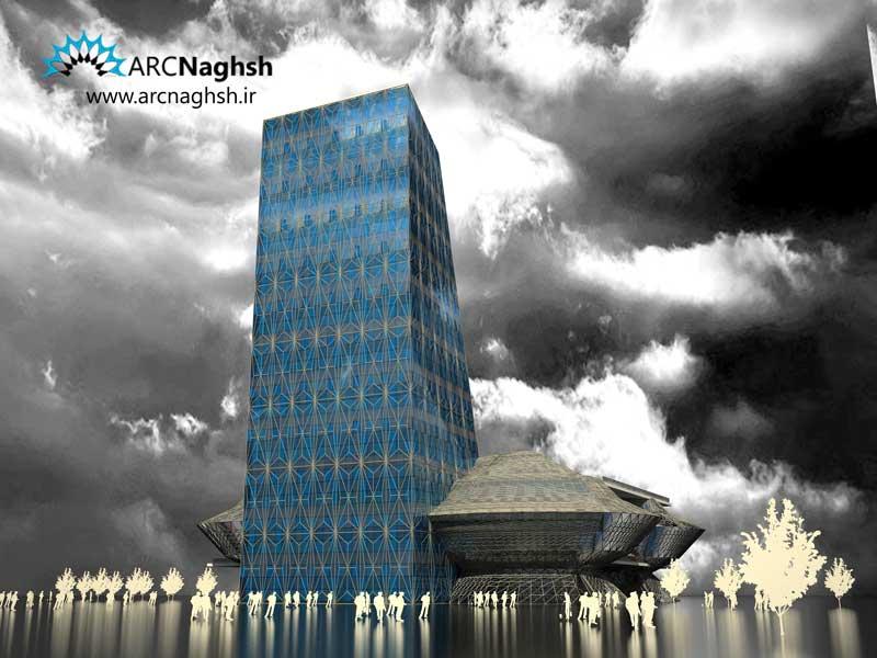 برج تجاری باسازه فضایی